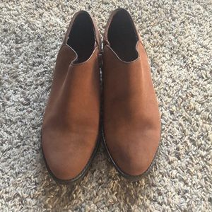 Lucky brand cognac brown, suede  ankle booties.